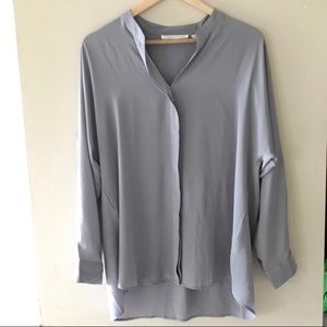 Violet + Claire grey tunic-style blouse - size Lg